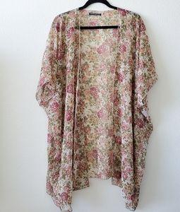 Brandy Melville Floral Kimono, long cardigan